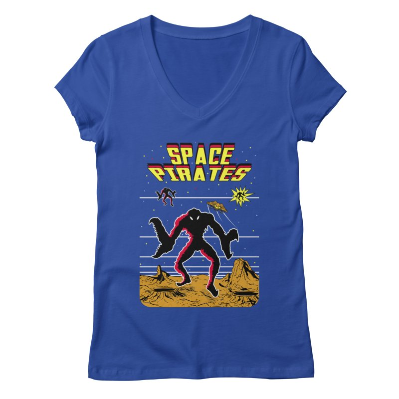 SPACE PIRATES Women's Regular V-Neck by UNDEAD MISTER