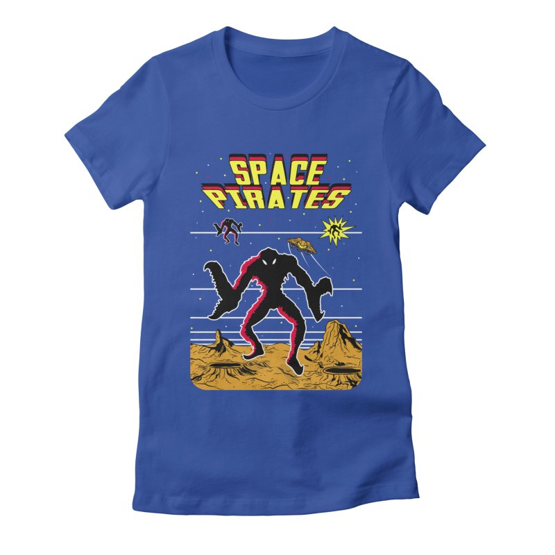 SPACE PIRATES Women's Fitted T-Shirt by UNDEAD MISTER