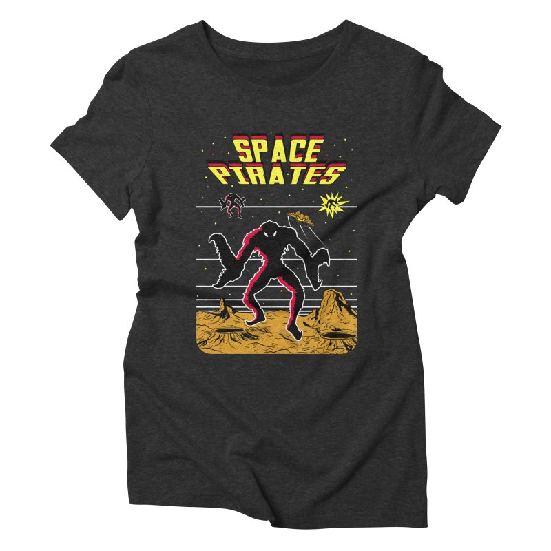 SPACE PIRATES Women's Triblend T-Shirt by UNDEAD MISTER