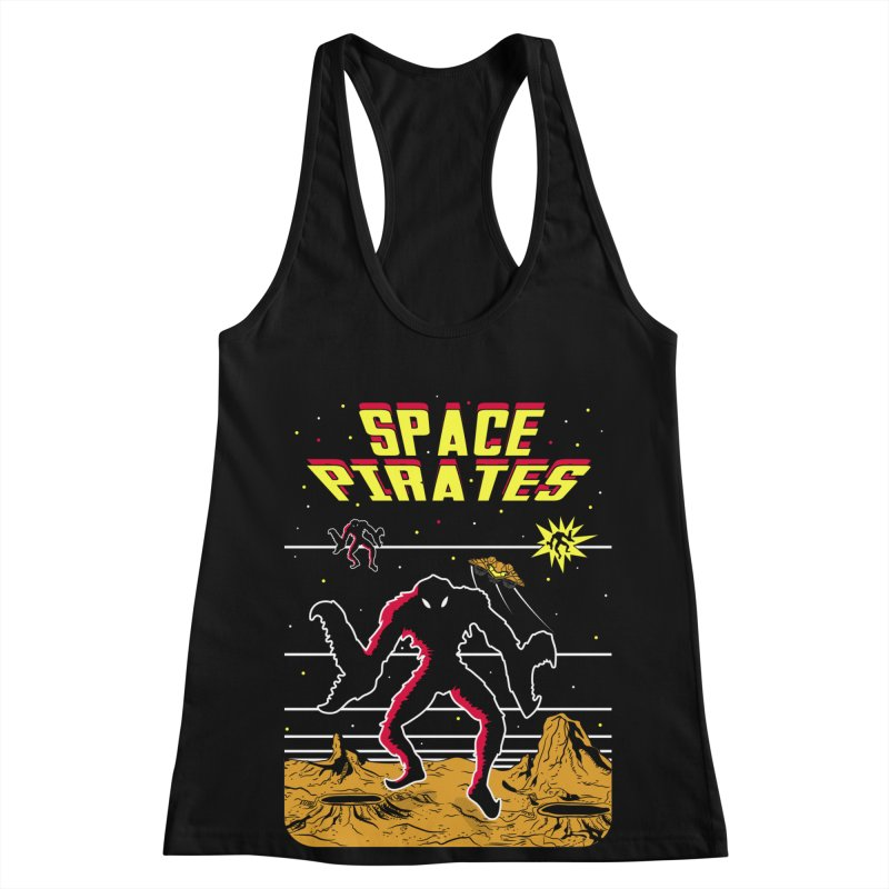 SPACE PIRATES Women's Racerback Tank by UNDEAD MISTER