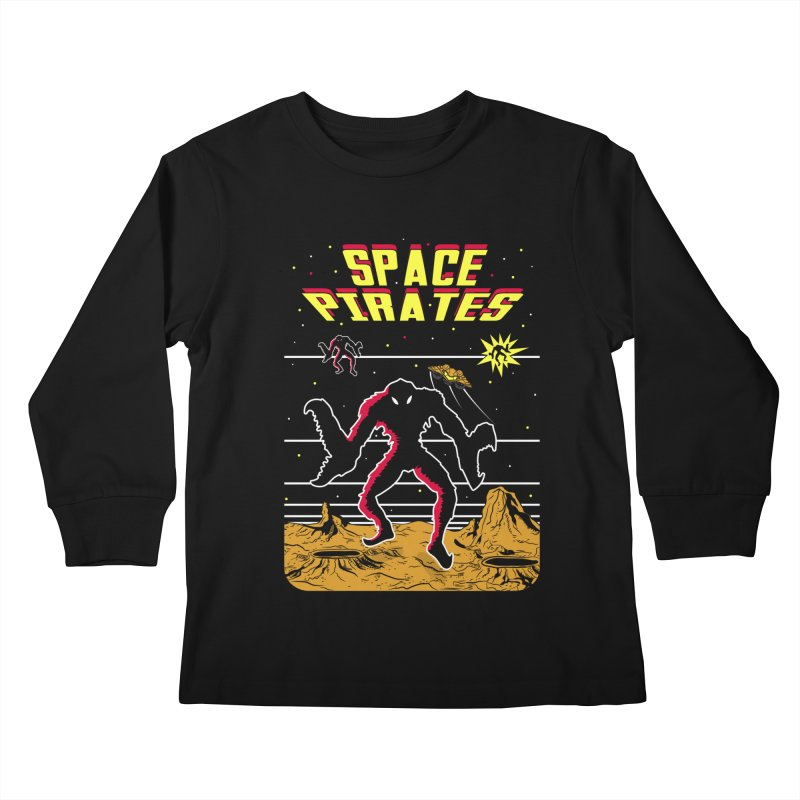 SPACE PIRATES Kids Longsleeve T-Shirt by UNDEAD MISTER