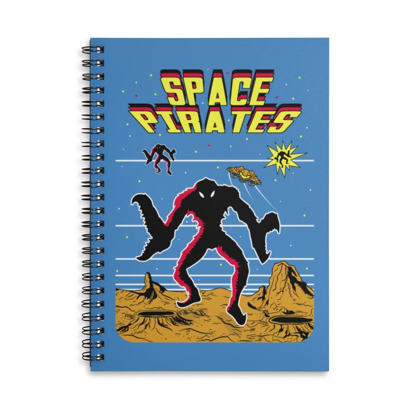 SPACE PIRATES Accessories Lined Spiral Notebook by UNDEAD MISTER