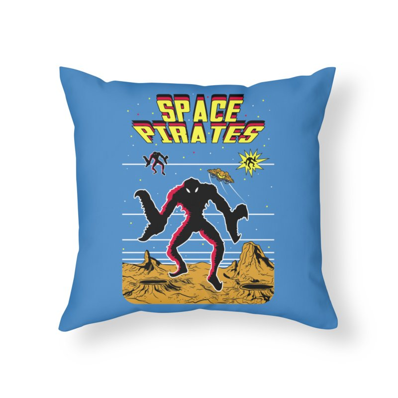 SPACE PIRATES Home Throw Pillow by UNDEAD MISTER