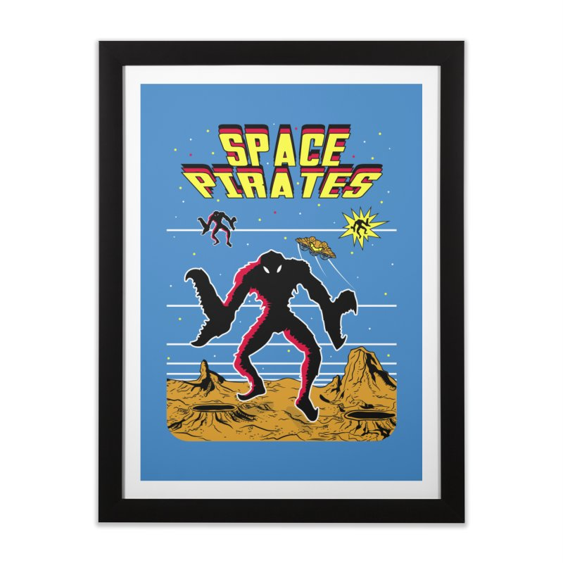 SPACE PIRATES Home Framed Fine Art Print by UNDEAD MISTER