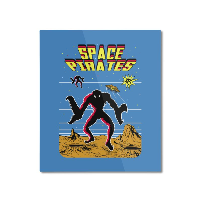 SPACE PIRATES Home Mounted Aluminum Print by UNDEAD MISTER