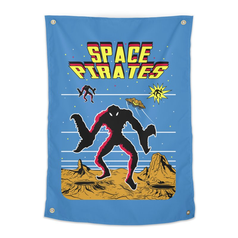 SPACE PIRATES Home Tapestry by UNDEAD MISTER