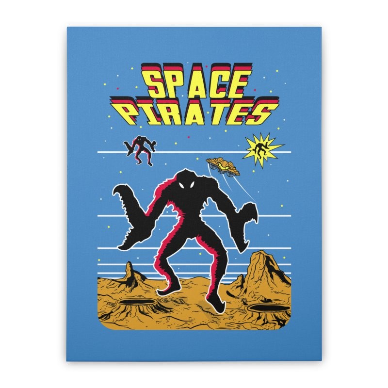 SPACE PIRATES Home Stretched Canvas by UNDEAD MISTER