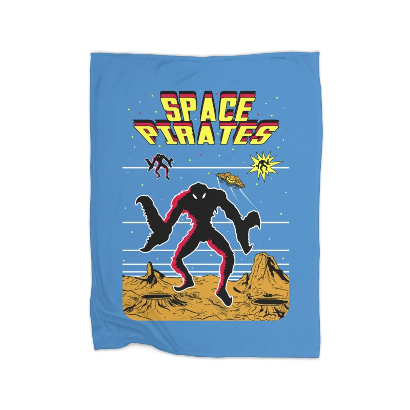 SPACE PIRATES Home Fleece Blanket Blanket by UNDEAD MISTER