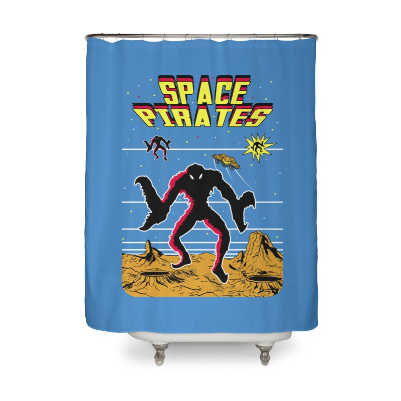 SPACE PIRATES Home Shower Curtain by UNDEAD MISTER
