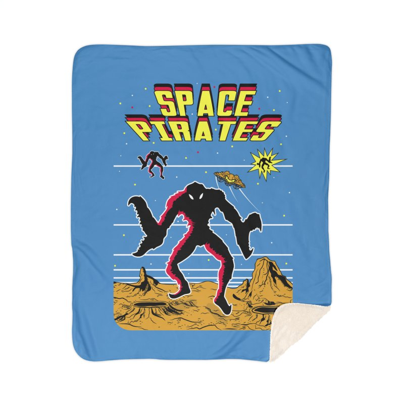 SPACE PIRATES Home Sherpa Blanket Blanket by UNDEAD MISTER