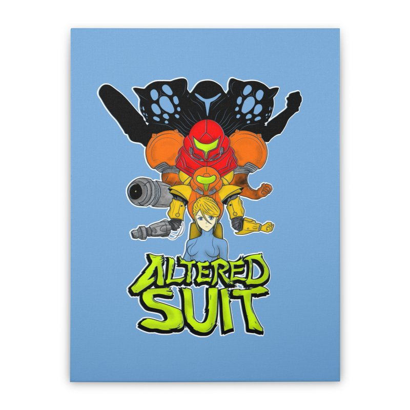 Altered Suit Home Stretched Canvas by UNDEAD MISTER