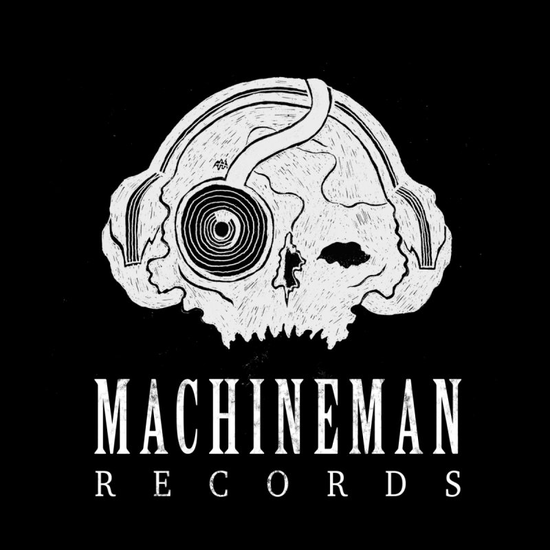 Machine Man Records Skull LOGO design 1 Kids T-Shirt by Machine Man Records Shop