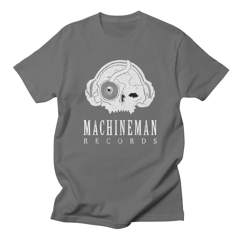 Machine Man Records Skull LOGO design 1 Men's T-Shirt by Machine Man Records Shop