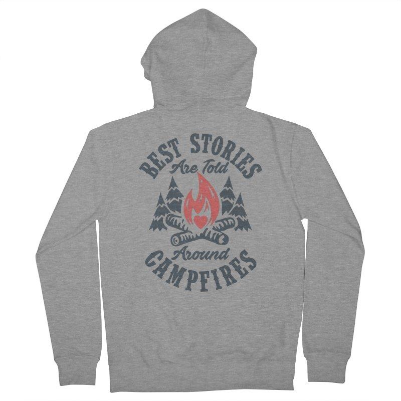 Campfire Stories Men's Zip-Up Hoody by MackStudios's Artist Shop