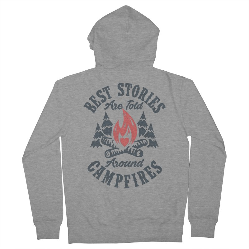 Campfire Stories Men's Zip-Up Hoody by MackStudios's Artist Shop