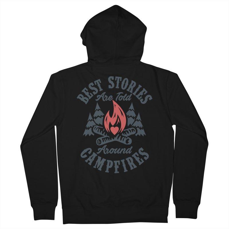 Campfire Stories Men's French Terry Zip-Up Hoody by MackStudios's Artist Shop