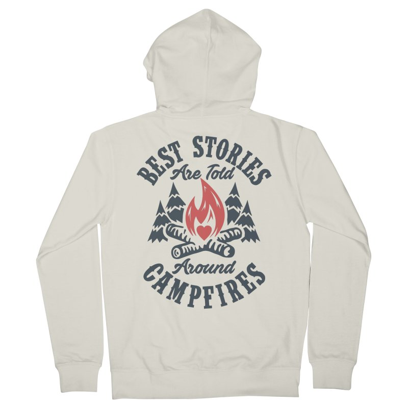 Campfire Stories Men's French Terry Zip-Up Hoody by MackStudios's Artist Shop