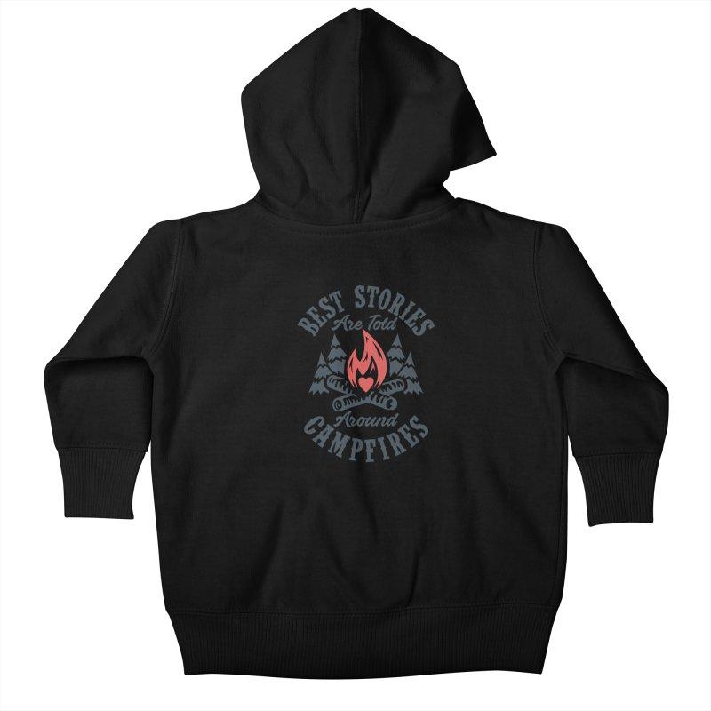 Campfire Stories Kids Baby Zip-Up Hoody by MackStudios's Artist Shop