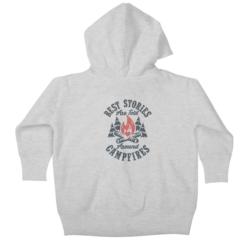 Campfire Stories Kids Baby Zip-Up Hoody by MackStudios's Artist Shop