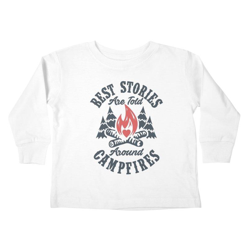 Campfire Stories Kids Toddler Longsleeve T-Shirt by MackStudios's Artist Shop