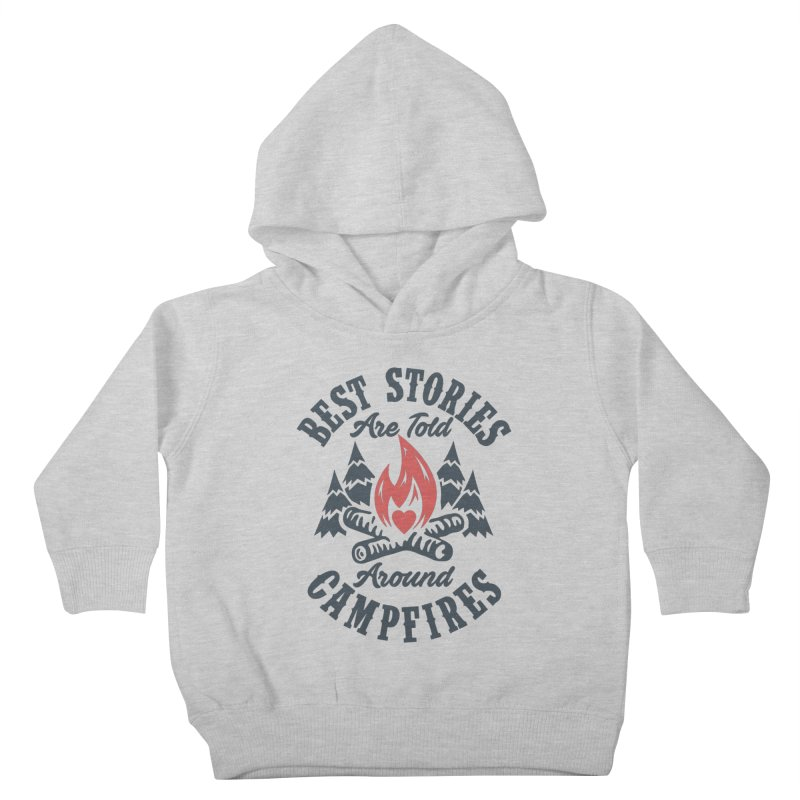Campfire Stories Kids Toddler Pullover Hoody by MackStudios's Artist Shop