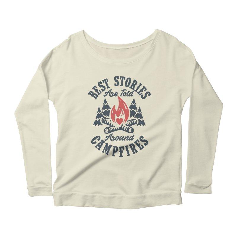 Campfire Stories Women's Longsleeve Scoopneck  by MackStudios's Artist Shop