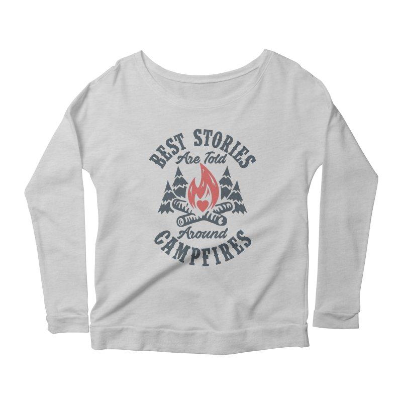 Campfire Stories Women's Scoop Neck Longsleeve T-Shirt by MackStudios's Artist Shop