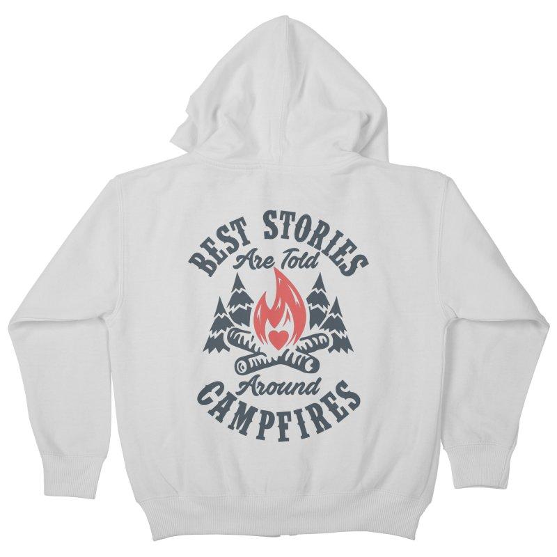 Campfire Stories Kids Zip-Up Hoody by MackStudios's Artist Shop