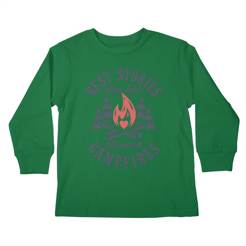 Campfire Stories Kids Longsleeve T-Shirt by MackStudios's Artist Shop