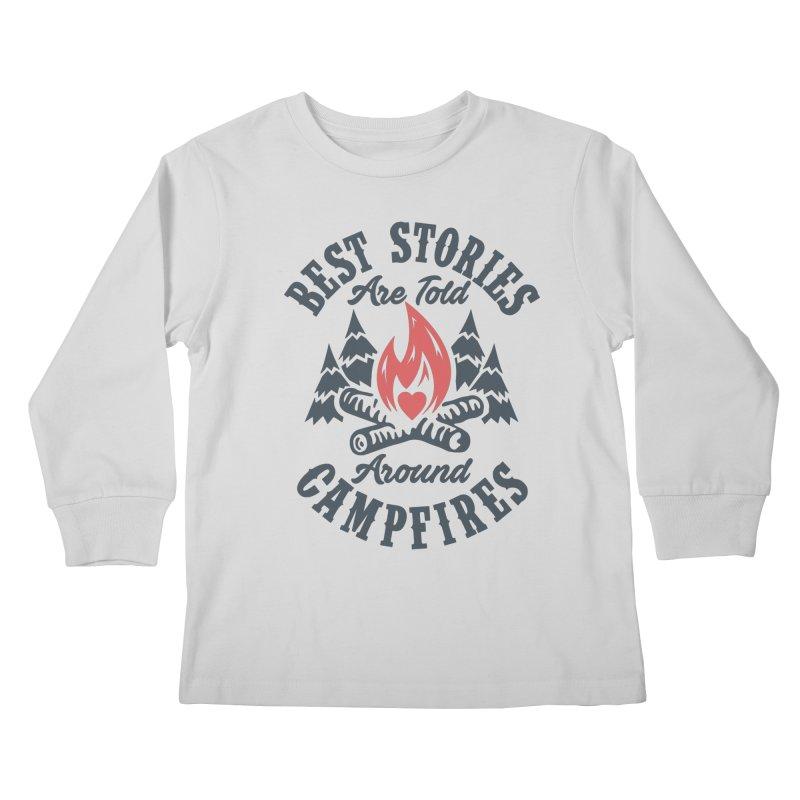 Campfire Stories Kids Longsleeve T-Shirt by MackStudios's Artist Shop