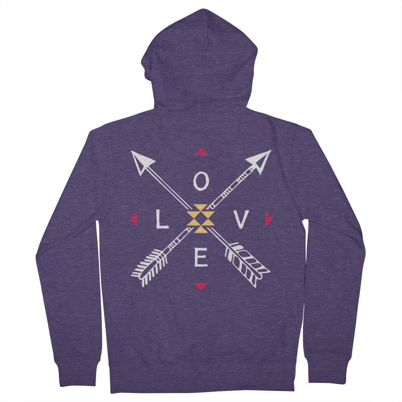 Native Love Men's Zip-Up Hoody by MackStudios's Artist Shop