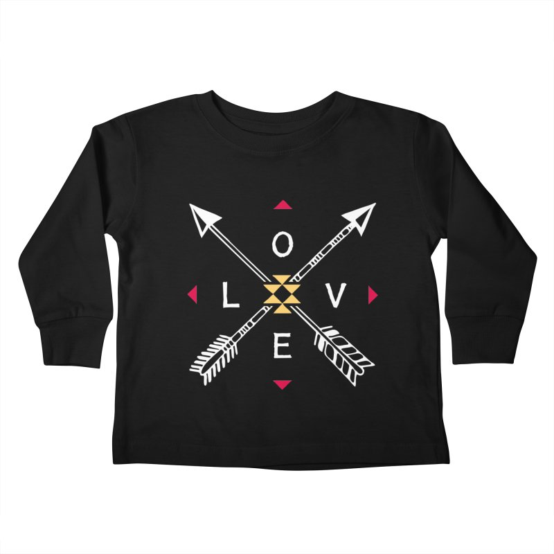Native Love Kids Toddler Longsleeve T-Shirt by MackStudios's Artist Shop