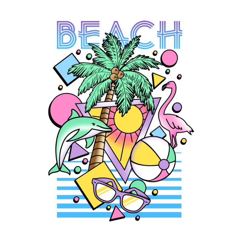 80's Beach  Men's T-Shirt by MackStudios's Artist Shop