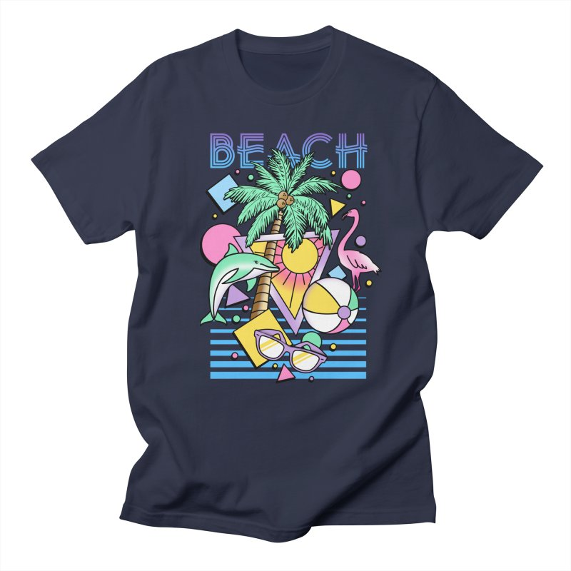 80's Beach  Men's Regular T-Shirt by MackStudios's Artist Shop