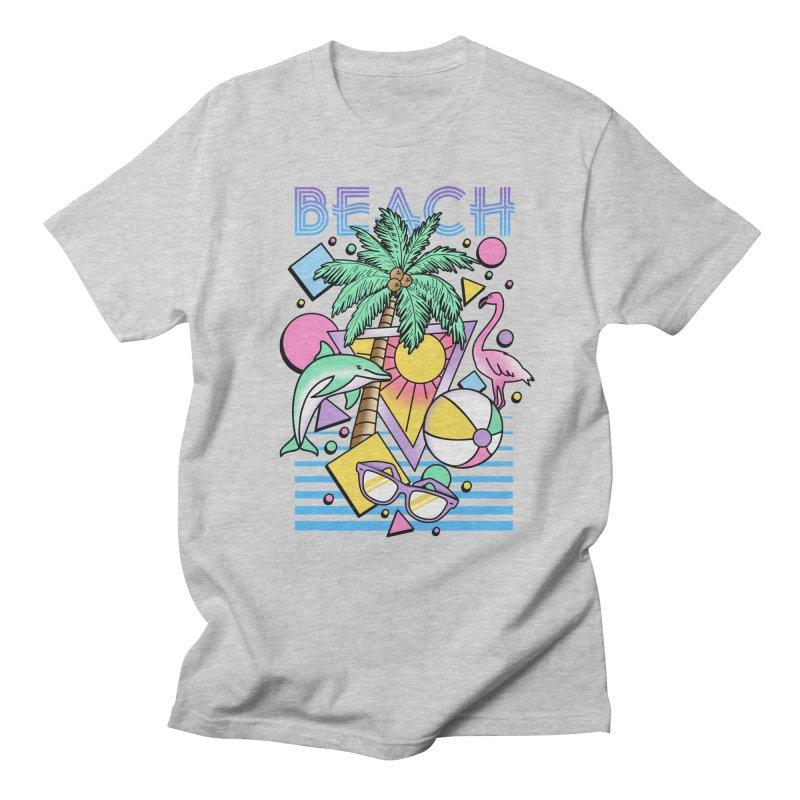 80's Beach  Men's T-Shirt by MackStudios's Artist Shop