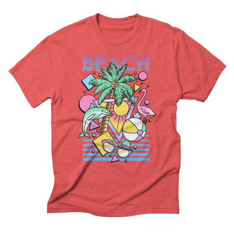 80's Beach  Men's Triblend T-Shirt by MackStudios's Artist Shop