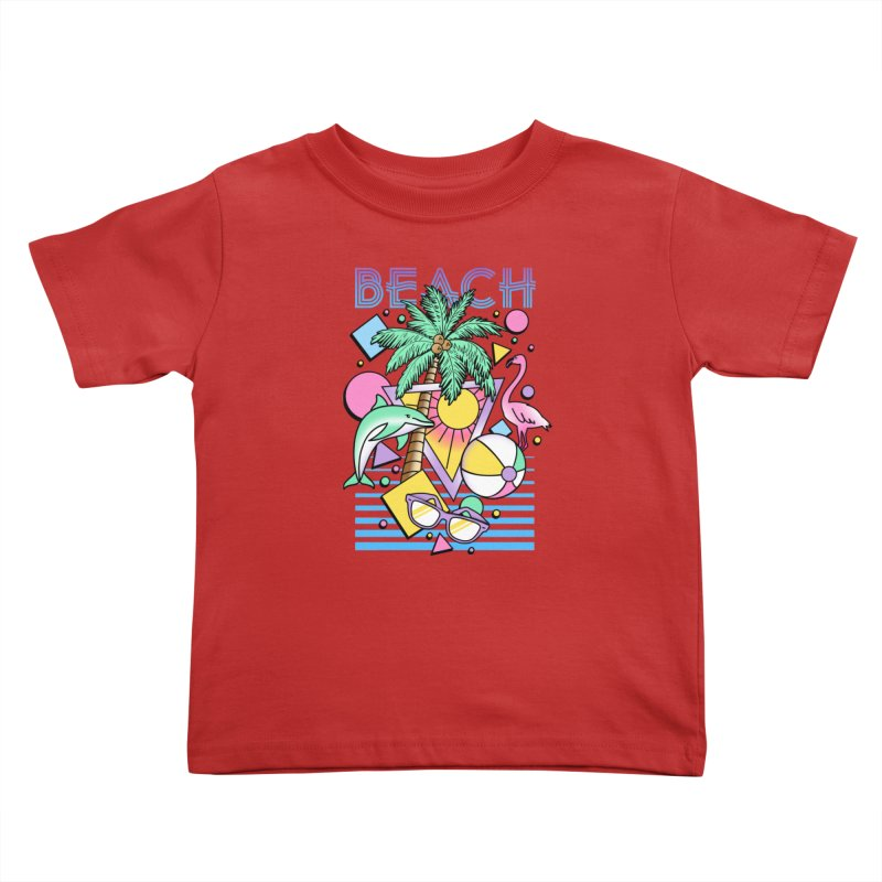 80's Beach  Kids Toddler T-Shirt by MackStudios's Artist Shop