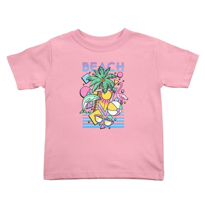 80's Beach  Kids Toddler T-Shirt by MackStudios's Artist Shop