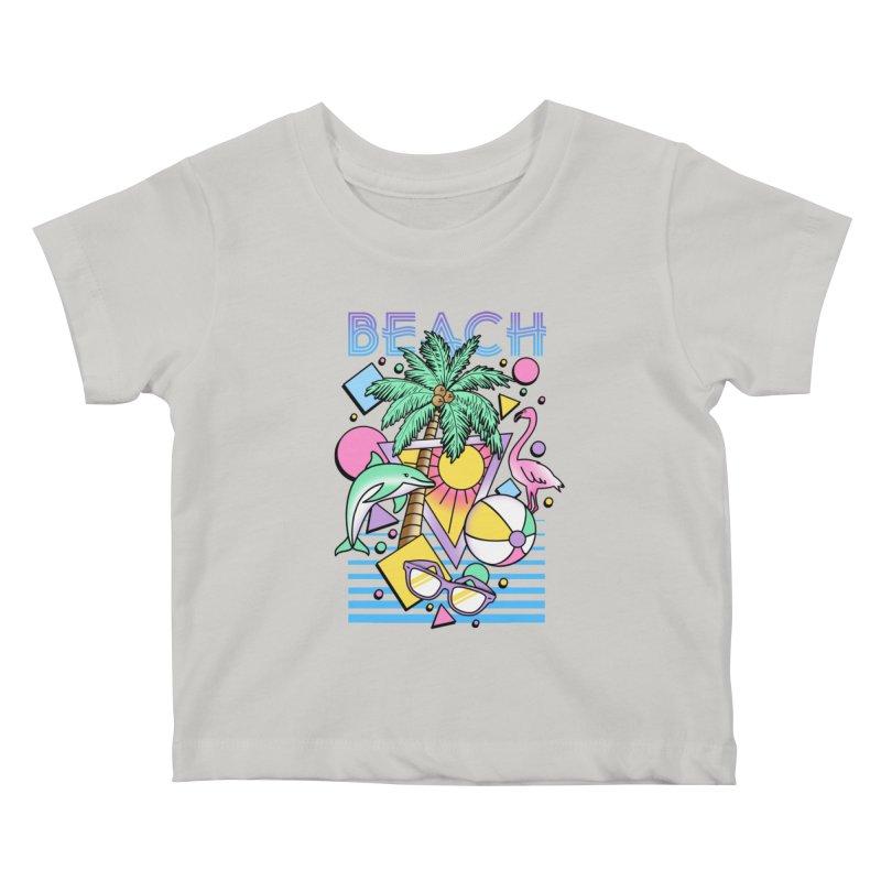 80's Beach  Kids Baby T-Shirt by MackStudios's Artist Shop
