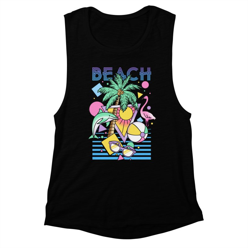 80's Beach  Women's Muscle Tank by MackStudios's Artist Shop