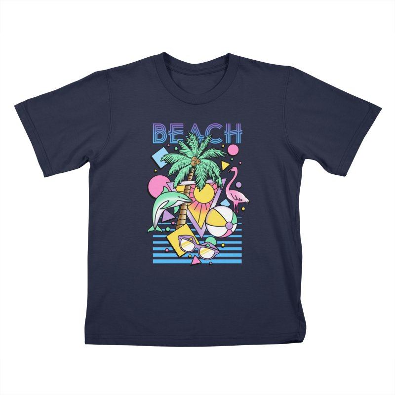 80's Beach  Kids T-Shirt by MackStudios's Artist Shop