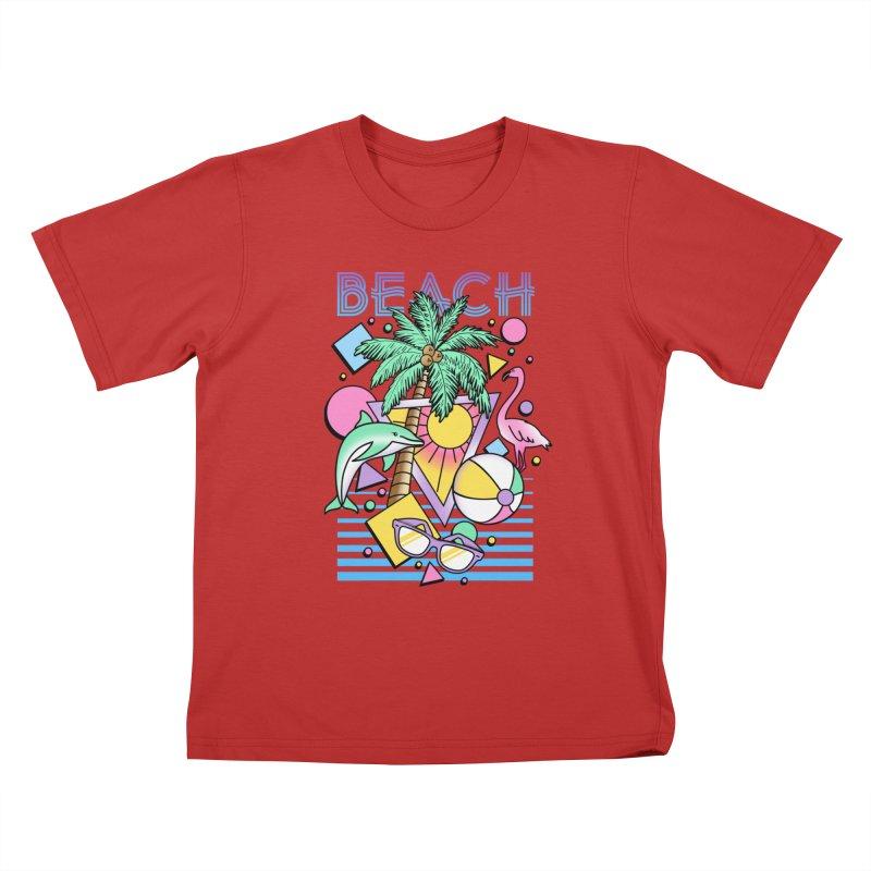 80's Beach  Kids T-Shirt by MackStudios's Artist Shop