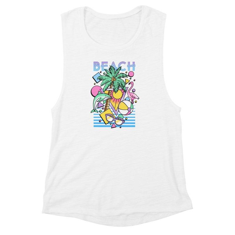 80's Beach  Women's Muscle Tank by MackStudios's Artist Shop