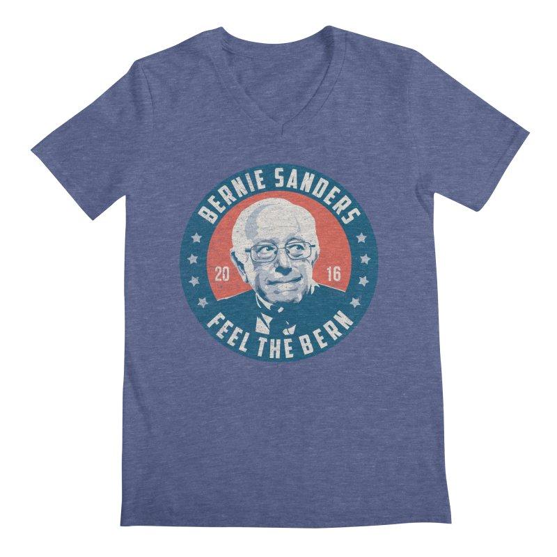 Bernie Sanders For President Men's Regular V-Neck by MackStudios's Artist Shop