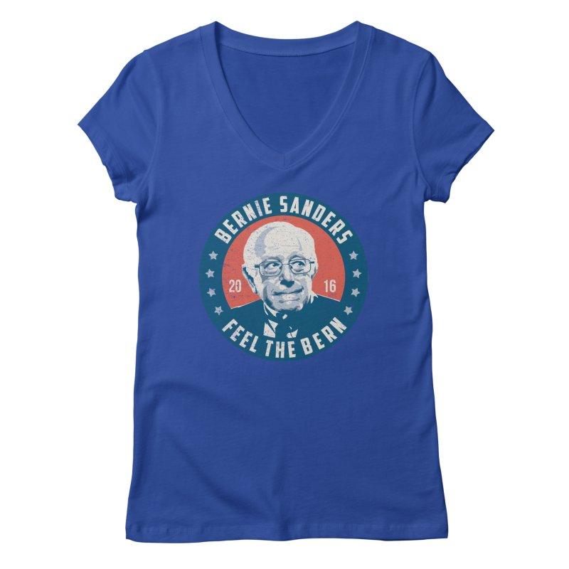 Bernie Sanders For President Women's Regular V-Neck by MackStudios's Artist Shop