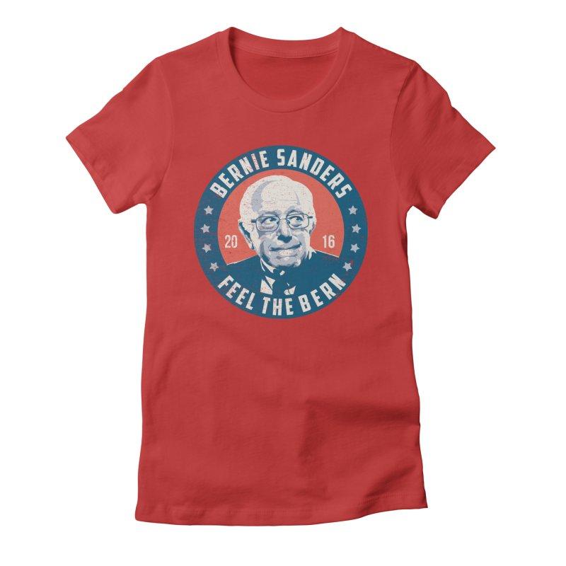 Bernie Sanders For President Women's Fitted T-Shirt by MackStudios's Artist Shop