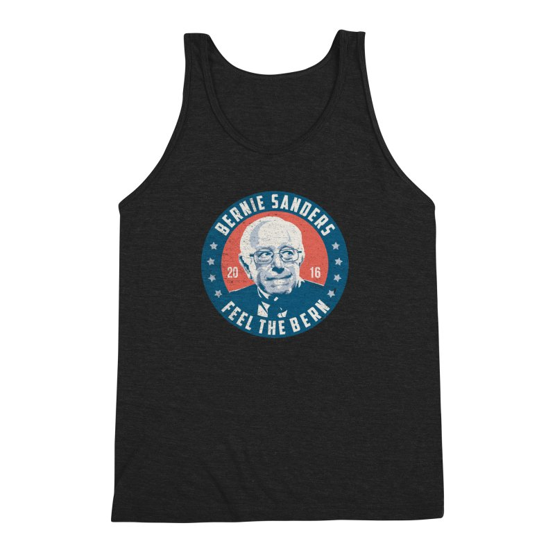 Bernie Sanders For President Men's Triblend Tank by MackStudios's Artist Shop