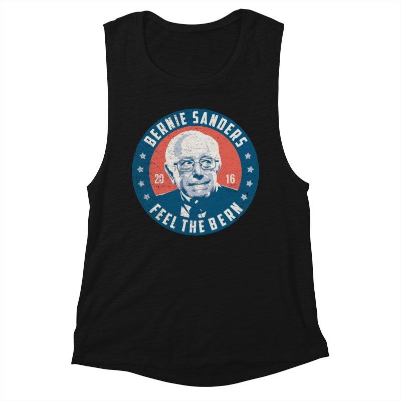 Bernie Sanders For President Women's Muscle Tank by MackStudios's Artist Shop