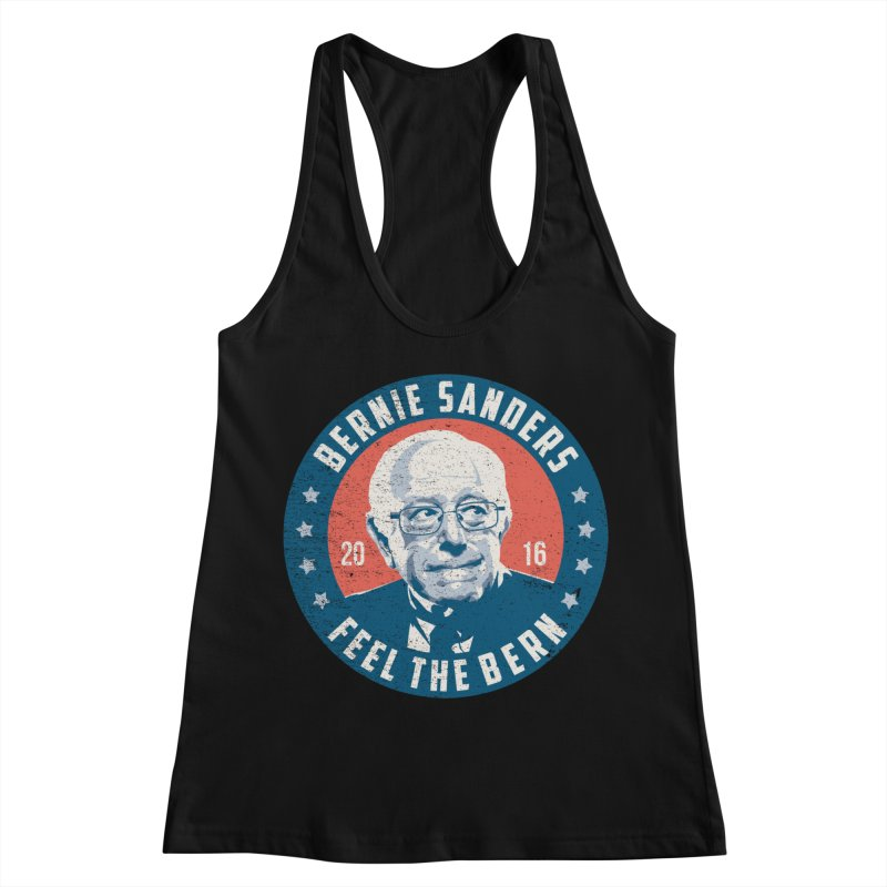 Bernie Sanders For President Women's Racerback Tank by MackStudios's Artist Shop