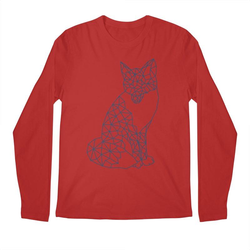 Geometric Fox Men's Longsleeve T-Shirt by MackStudios's Artist Shop